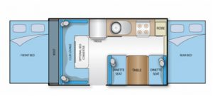 Caravan Hire Floor Plan